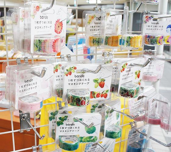 大丸藤井CENTRAL內紙膠帶花瓣系列