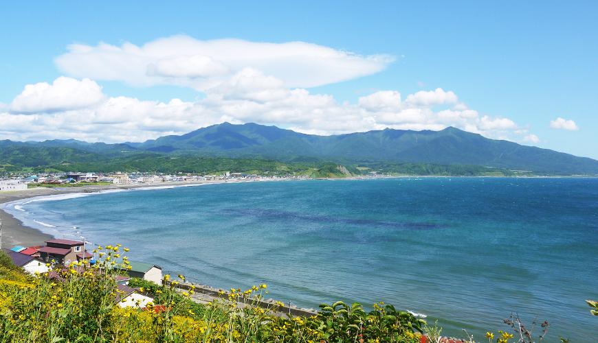 北海道「様似町」遼闊海灣美景