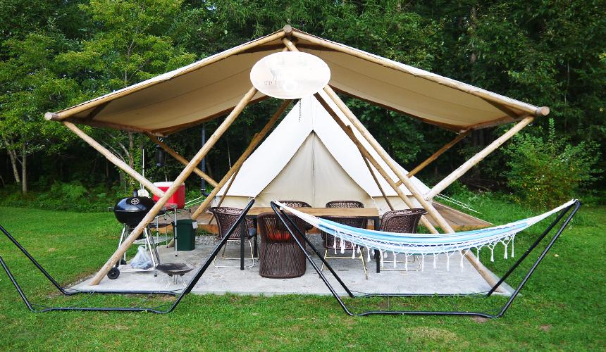 中札內農村休暇村野外露營!