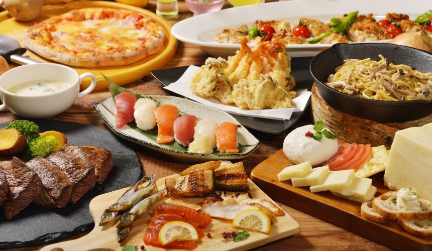 洞爺湖萬世閣Lakeside Terrace飯店的各種料理