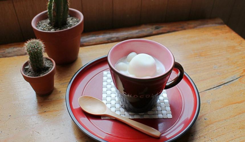 北海道洞爺湖必玩必吃行程「岡田屋」的紅豆湯圓