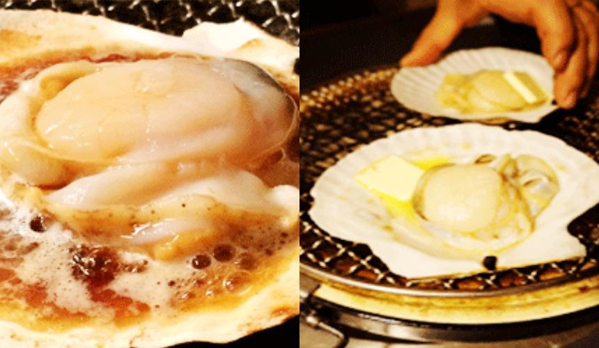 旭川炭燒居酒屋「一期一會」烤奶油帆立貝