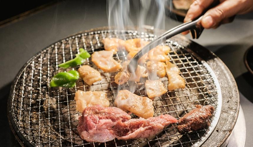 旭川炭燒居酒屋「一期一會」碳烤燒肉照
