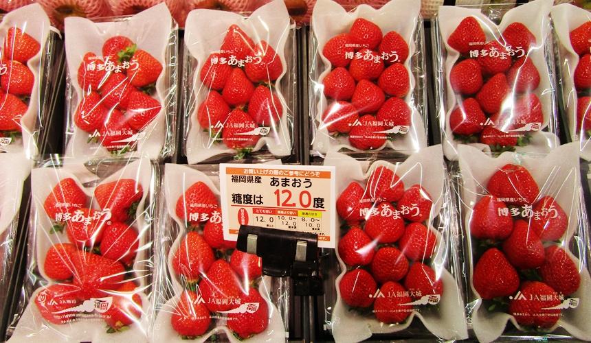 大型購物中心「AEON 新札幌店」的日本草莓