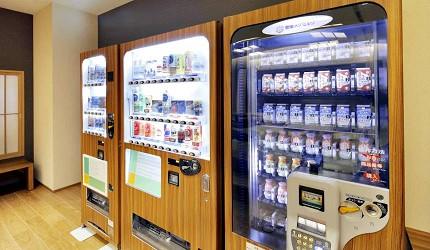 自動販賣機有不少北海道限定的飲料