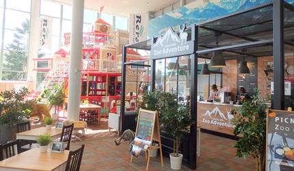 新千岁机场旁,北海道必逛最大购物城「Chitose Outlet Mall Rera」的园内小孩们的主题乐园