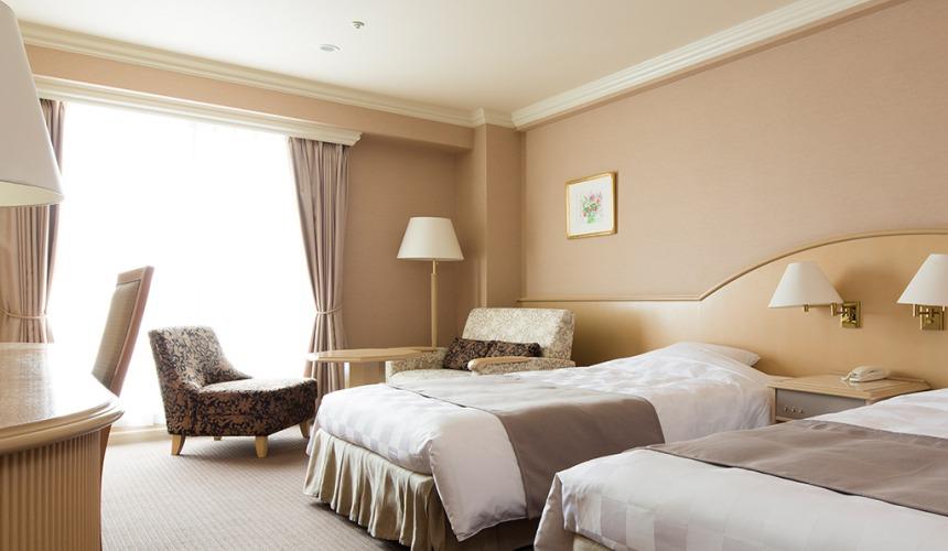 北海道最大的四季度假胜地「留寿都度假区」的威斯汀留寿都度假酒店的南北馆双床双人房(ツインルーム)