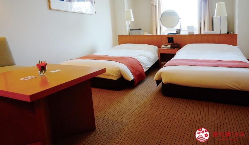 札幌飯店推薦「札幌克拉比飯店」的精緻雙人房裝潢