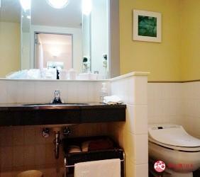 札幌飯店推薦「札幌克拉比飯店」的豪華雙人房的浴室廁所