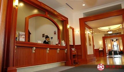 札幌飯店推薦「札幌克拉比飯店」的櫃檯