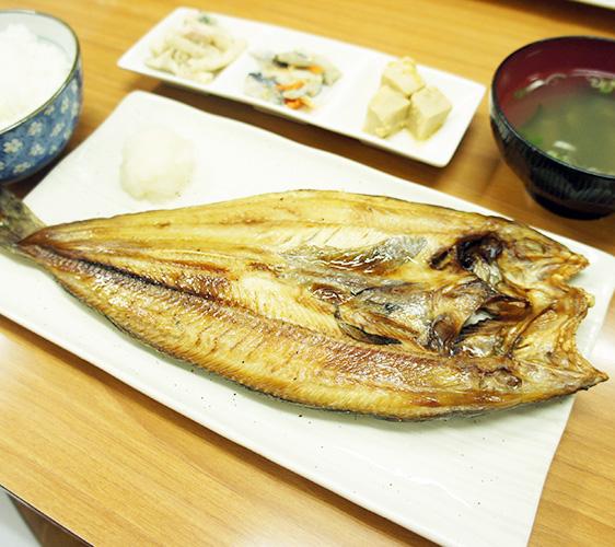 味処たけだ的烤花鱼定食