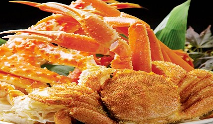 札幌生啤酒成吉思汗烤肉、螃蟹與和牛店家推薦「麒麟啤酒園」三大蟹拼盤(油蟹、松葉蟹、毛蟹)