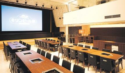 札幌生啤酒成吉思汗烤肉、螃蟹與和牛店家推薦「麒麟啤酒園」1樓用餐空間