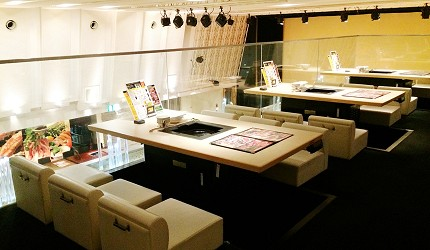 札幌生啤酒成吉思汗烤肉、螃蟹與和牛店家推薦「麒麟啤酒園」2樓用餐空間