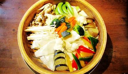札幌自由行居酒屋推薦:北海道地雞料理,還有多款蔬菜隨你選!札幌居酒屋「雞次郎」的蒸籠蒸新鮮蔬菜~3款醬料口味~(新鮮野菜の蒸籠蒸し~3種のソースの味で~)