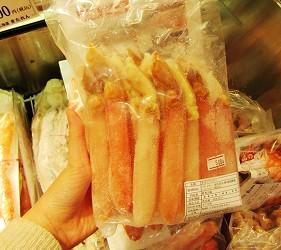 北海道新千歲機場土產店「北連」的彈牙松葉蟹腳