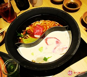 日式涮涮锅名店「温野菜」札幌站前店的多款汤底
