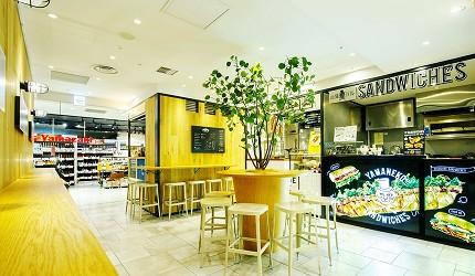 北海道在地推薦美食札幌PARCO「FOODIES MARKET」室內一景