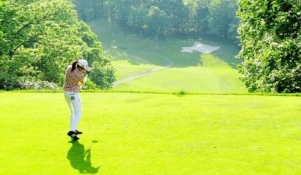 高爾夫球迷必看!北海道「札幌手稻高爾夫球俱樂部」北海道形狀沙坑