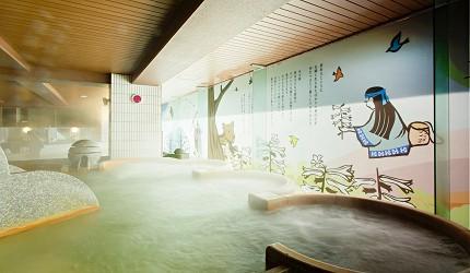 北海道釧路「阿寒湖」旅行推薦景點!阿寒湖溫泉推薦「阿寒湖鶴雅WINGS 2樓女性大浴場マッネシリ」