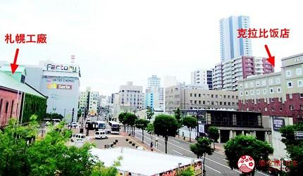 札幌飯店推薦「札幌克拉比飯店」與札幌工廠的地理位置