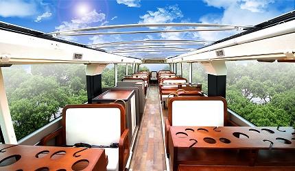 日本willer餐廳觀光巴士內裝