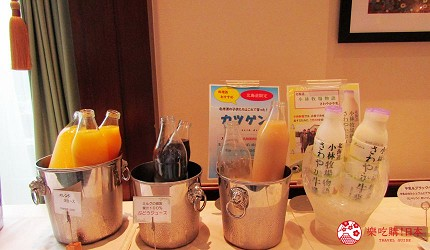 札幌飯店推薦「札幌克拉比飯店」的早餐吧飲料