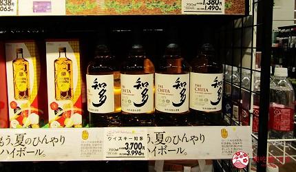 北海道必逛連鎖大型購物中心「AEON千歲店」的AEON超市販售的人氣威士忌「知多」