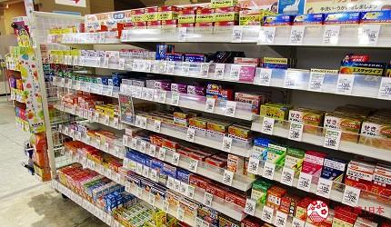 北海道必逛連鎖大型購物中心「AEON 千歲店」的AEON藥品區的感冒藥