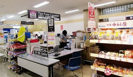北海道必逛連鎖大型購物中心「AEON 千歲店」的結帳處