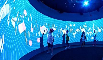 函馆亲子游推荐景点:有超大LED萤幕、360度影像围绕高科技体验的「函馆未来馆」室内照片