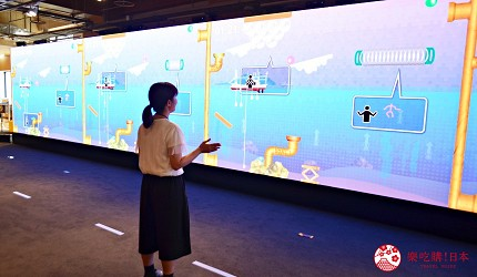 函馆亲子游推荐景点:「函馆未来馆」的设施「多媒体墙面」(メディアウォール)很有趣