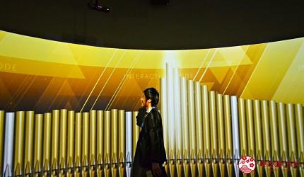 函馆亲子游推荐景点:「函馆未来馆」的设施「360度影像馆」(360 Studio)管弦乐的环绕音效