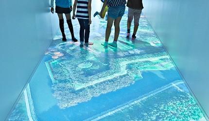 函馆亲子游推荐景点:「函馆未来馆」的设施「幻像步游」(想像の廊下)