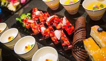 北海道函館湯之川王子飯店「渚亭」的自助餐廳「渚」的甜點美食
