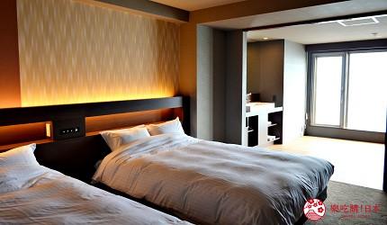 北海道函館湯之川王子飯店「渚亭」的洋式房間