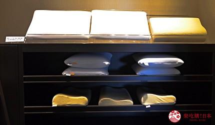 北海道函館湯之川王子飯店「渚亭」的浴衣、枕頭可以自己選擇
