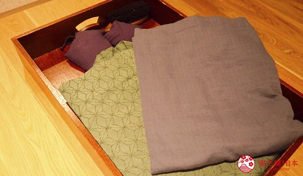 北海道函館湯之川王子飯店「渚亭」的洋式房間提供的浴衣