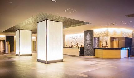 北海道函館湯之川王子飯店「渚亭」的大廳