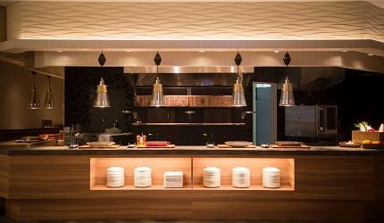 北海道函館湯之川王子飯店「渚亭」的自助餐廳「渚」的自助吧