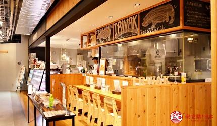 北海道函館五稜郭美食、購物推薦「SHARE STAR HAKODATE」內「SHARE STAR Kitchen」內的「お肉のつしま IRWAK」店門口