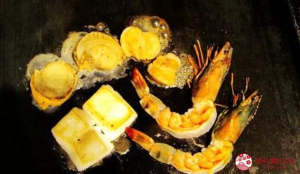 北海道札幌高CP值推薦鐵板燒專門店「雪昇」的各種海鮮