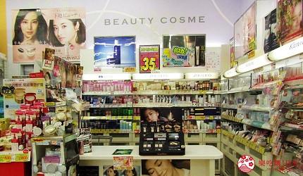 札幌必逛藥妝「SUNDRUG 狸小路2丁目店」的資生堂、佳麗寶專櫃