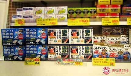 札幌必逛藥妝「SUNDRUG 狸小路2丁目店」販售的「貼り薬」