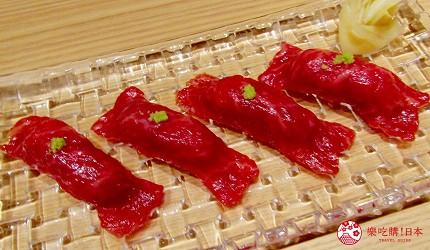 北海道A5和牛札幌燒肉專門店推薦「BULL TOKYO」的「上品牛里脊壽司」出示優惠券每人可免費獲得一份