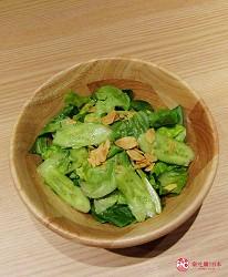 北海道A5和牛札幌燒肉專門店推薦「BULL TOKYO」的蔬菜沙拉