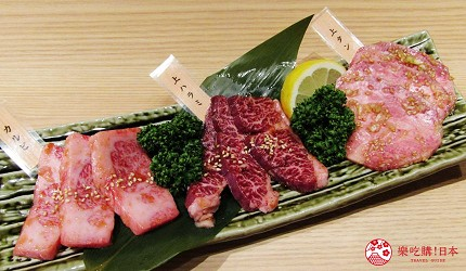 北海道A5和牛札幌燒肉專門店推薦「BULL TOKYO」的本日和牛3款拼盤(本日のお肉の3種盛り)