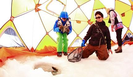北海道最大四季度假勝地「留壽都度假區」冬季雪地搭建帳篷