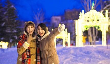 北海道最大四季度假勝地「留壽都度假區」冬季的燈飾