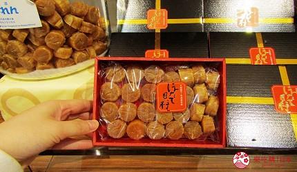 北海道海產伴手禮推薦新千歲機場「北海道漁連」販售的禮盒裝干貝